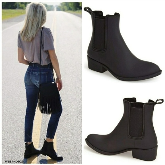 9e737f21a73 Jeffrey Campbell Shoes - JEFFREY CAMPBELL Stormy Chelsea Rain Boot